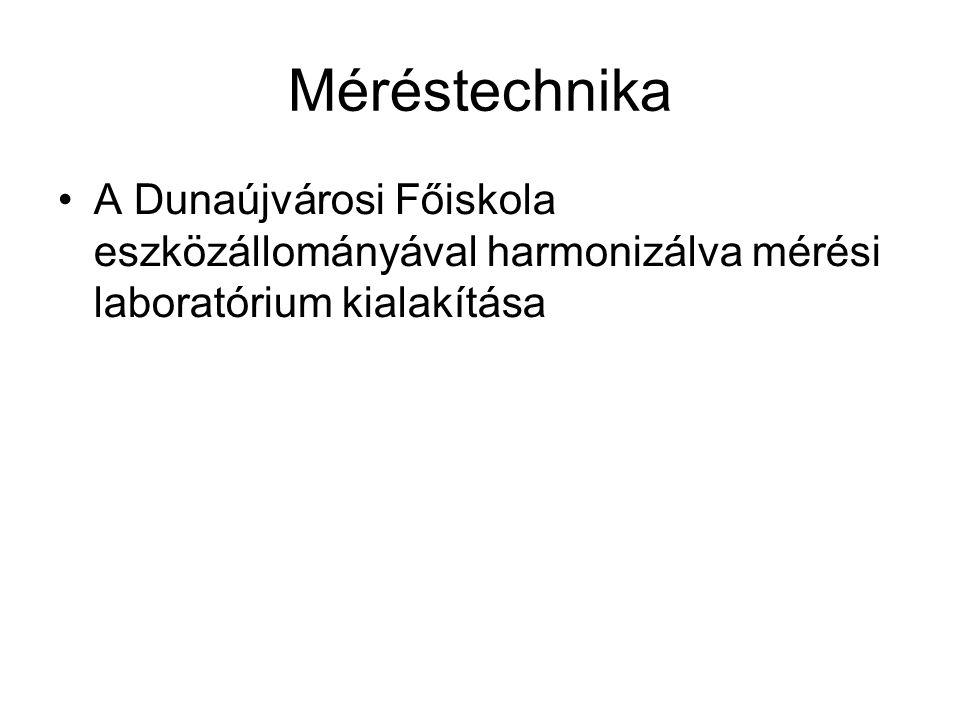 Méréstechnika A Dunaújvárosi Főiskola eszközállományával harmonizálva mérési laboratórium kialakítása