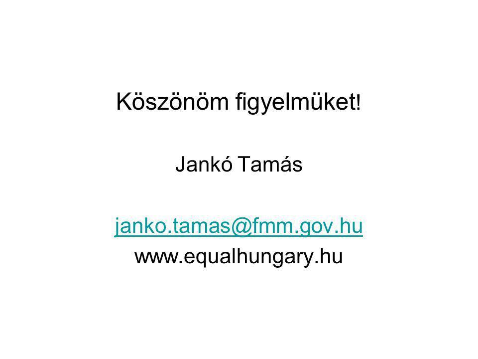 Köszönöm figyelmüket ! Jankó Tamás janko.tamas@fmm.gov.hu www.equalhungary.hu
