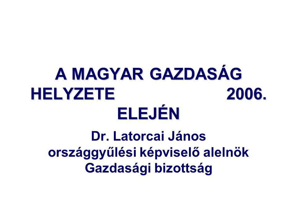 A MAGYAR GAZDASÁG HELYZETE 2006. ELEJÉN Dr.