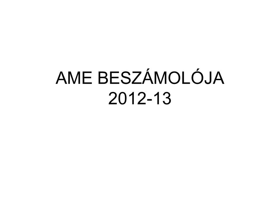 AME BESZÁMOLÓJA 2012-13