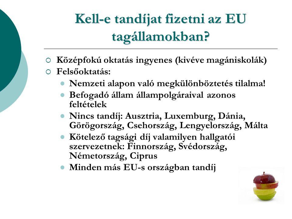 Kell-e tandíjat fizetni az EU tagállamokban.