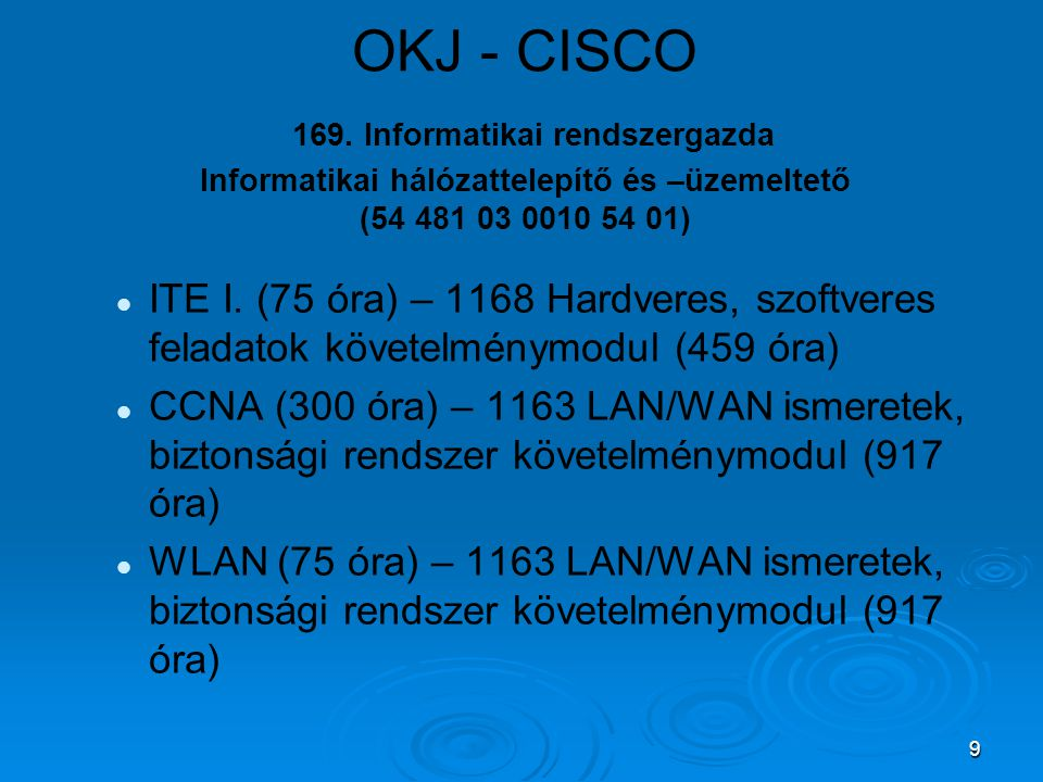 9 OKJ - CISCO 169.