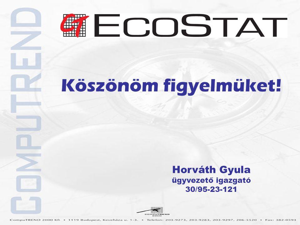 Horváth Gyula ügyvezető igazgató 30/95-23-121 Köszönöm figyelmüket!