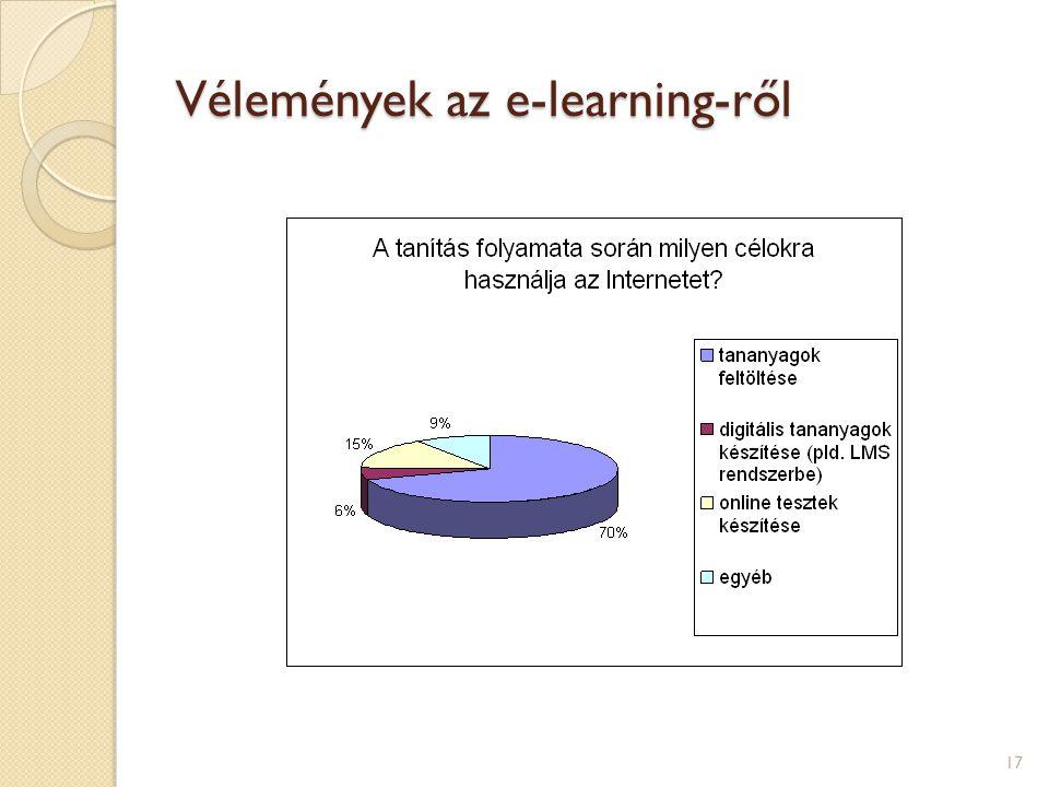 Vélemények az e-learning-ről 17