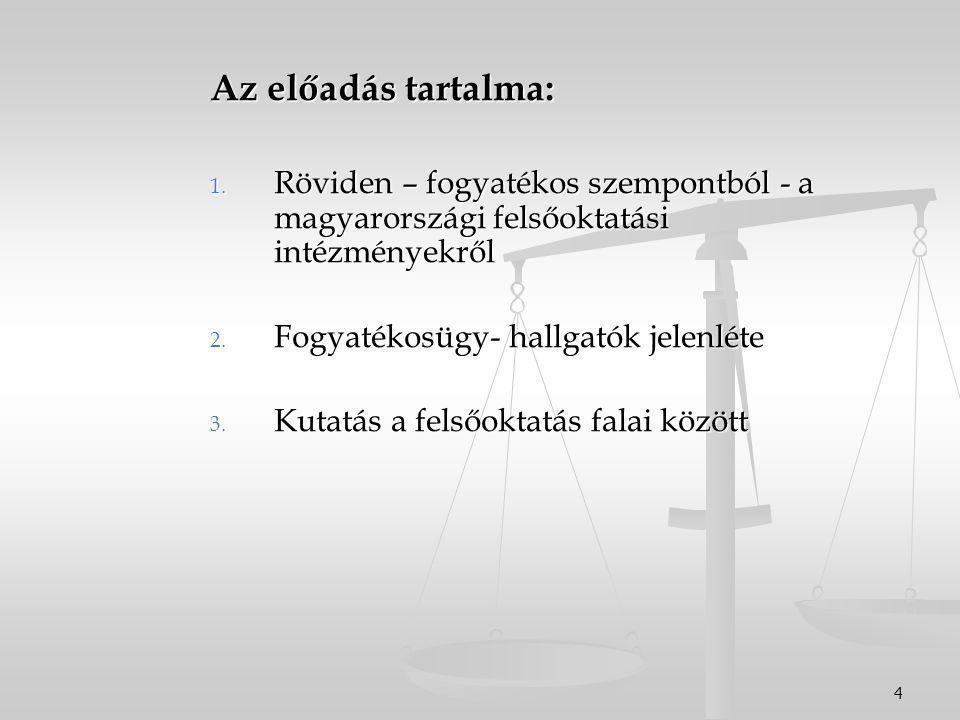 4 Az előadás tartalma: 1.