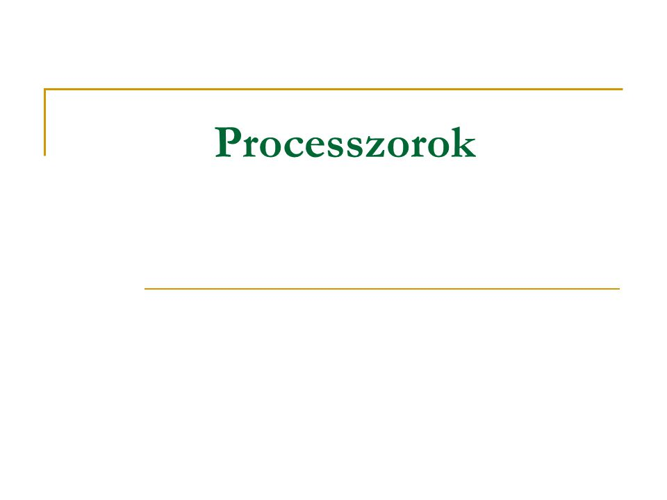 Processzorok