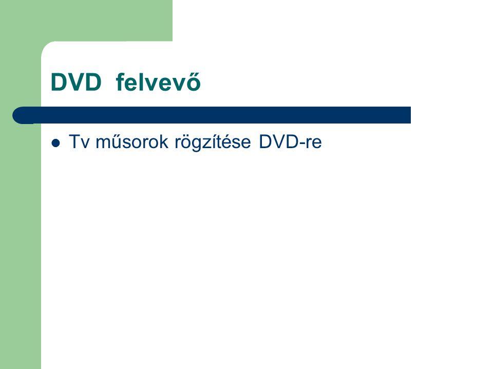 DVD felvevő Tv műsorok rögzítése DVD-re