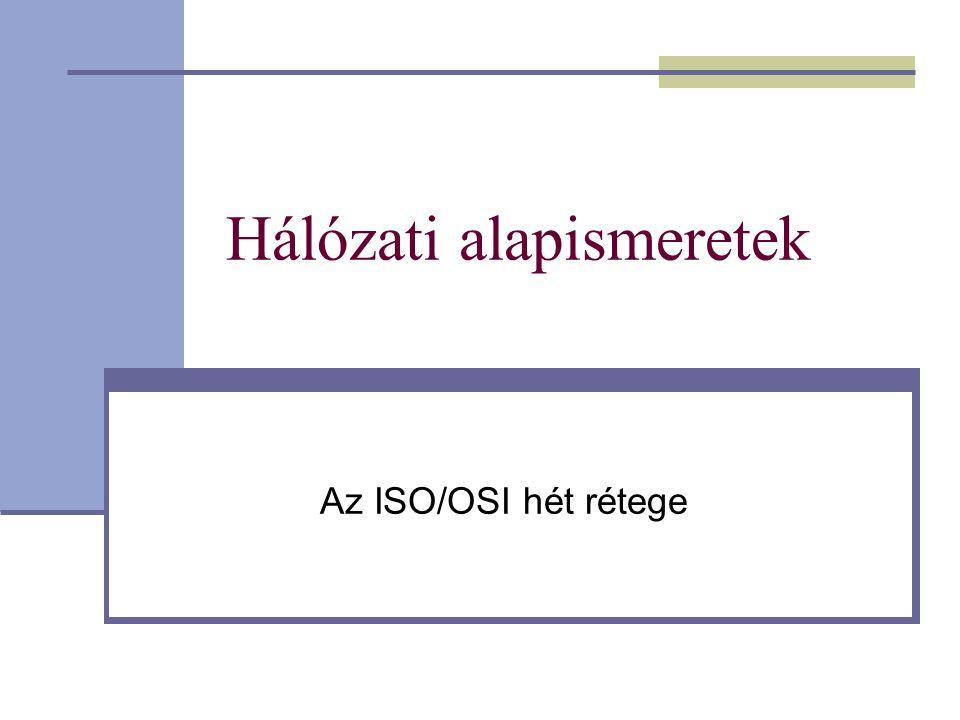 Hálózati alapismeretek Az ISO/OSI hét rétege