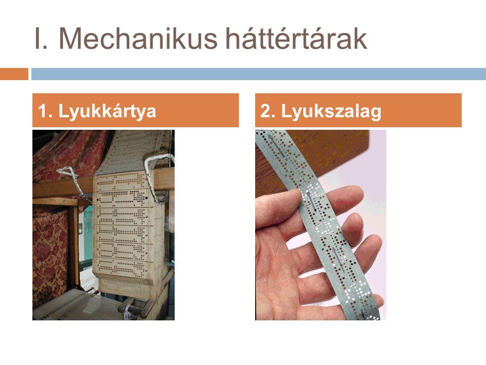 1. Lyukkártya2. Lyukszalag