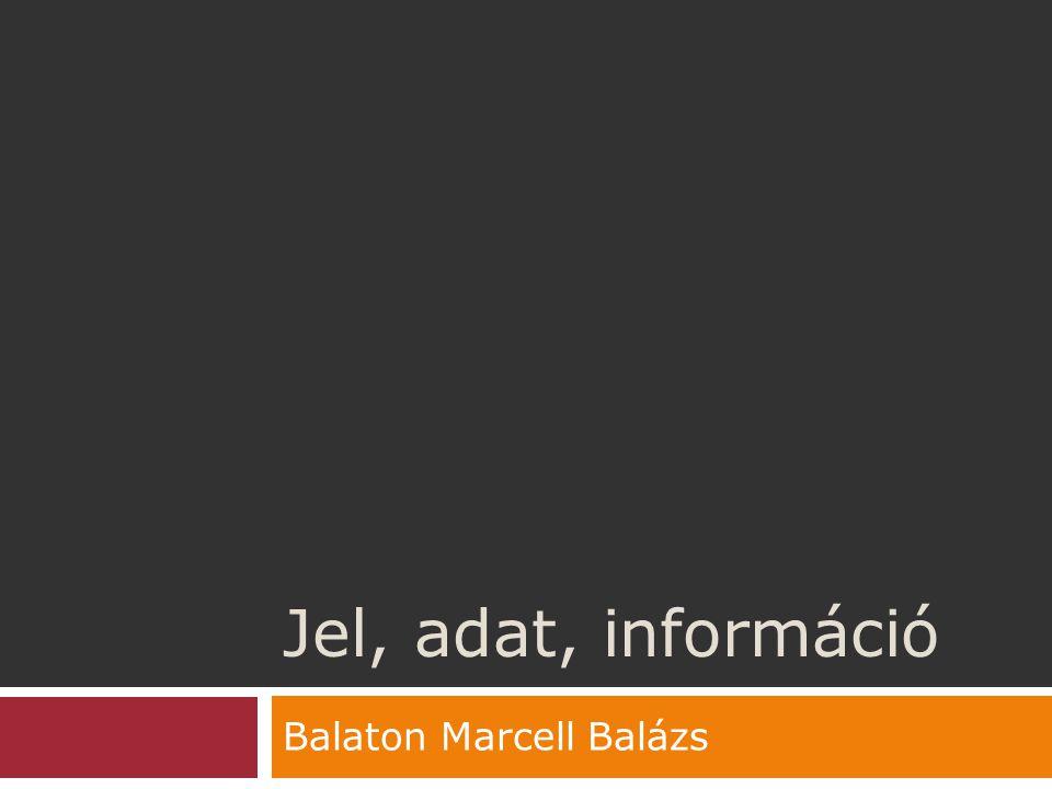 Jel, adat, információ Balaton Marcell Balázs