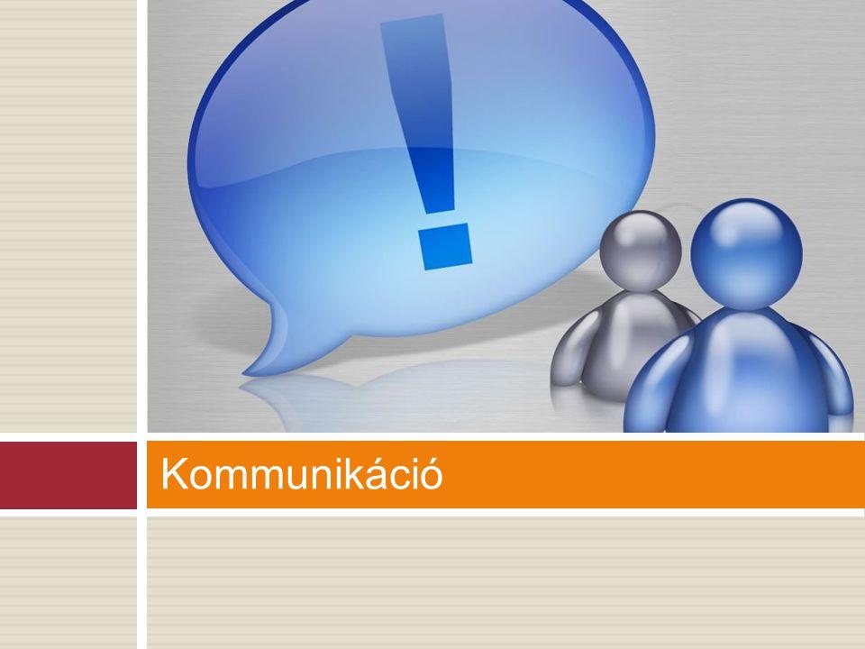 Kommunikációs modell Forrás: előállítja az üzenetet Adó: az üzenetet a csatornán továbbítható jelekké alakítja Csatorna: térben továbbítja a közleményt Vevő: a csatornán érkező közleményt visszaalakítja üzenetté Címzett: az üzenetet értelmezni, hasznosítani tudja