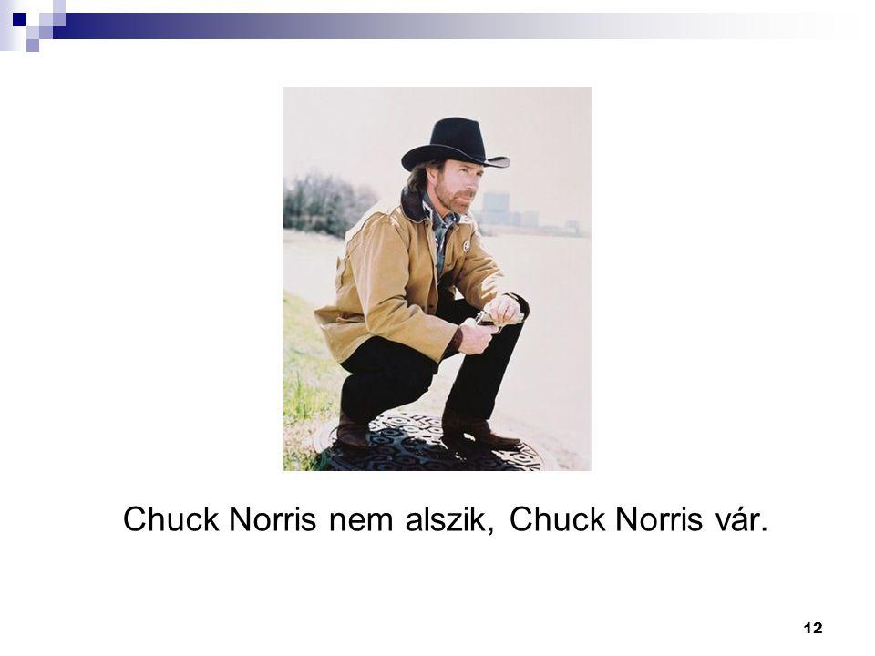 12 Chuck Norris nem alszik, Chuck Norris vár.