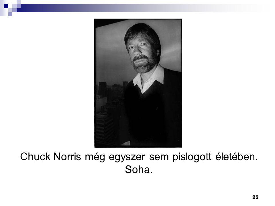 22 Chuck Norris még egyszer sem pislogott életében. Soha.