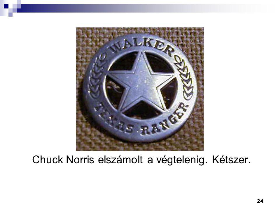 24 Chuck Norris elszámolt a végtelenig. Kétszer.