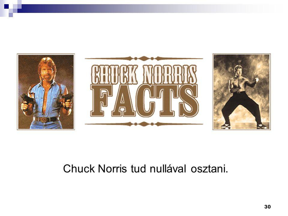 30 Chuck Norris tud nullával osztani.