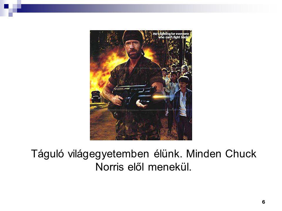 6 Táguló világegyetemben élünk. Minden Chuck Norris elől menekül.