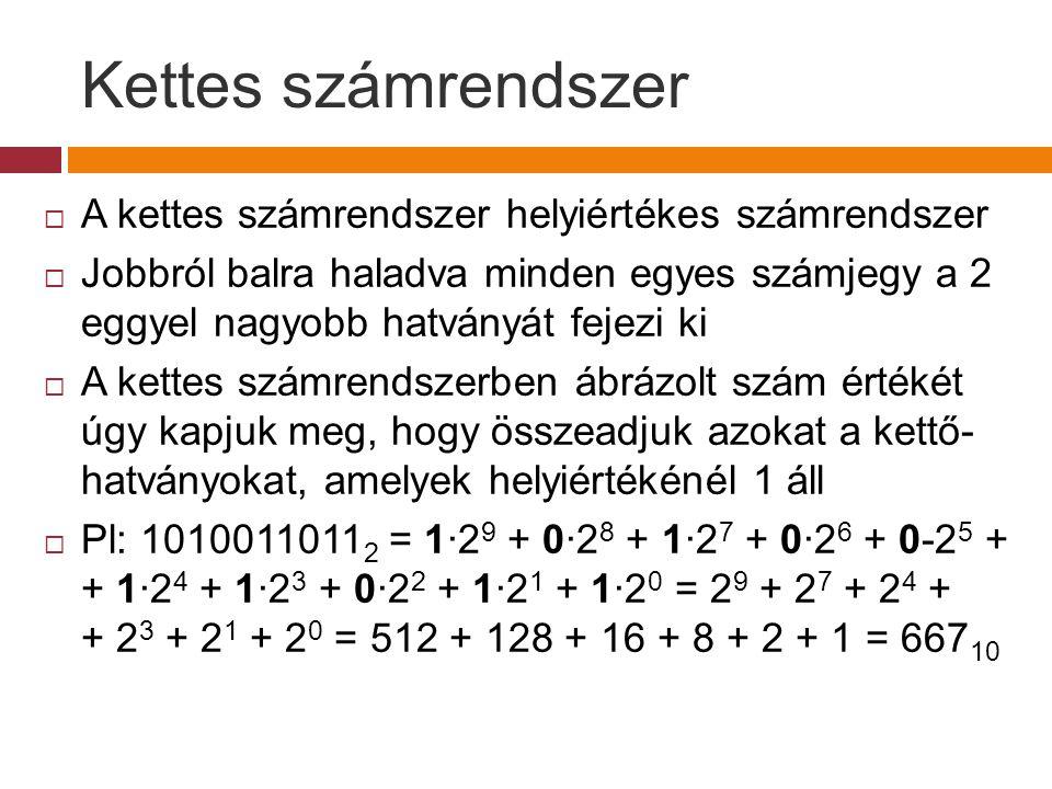 Bináris  decimális 1.