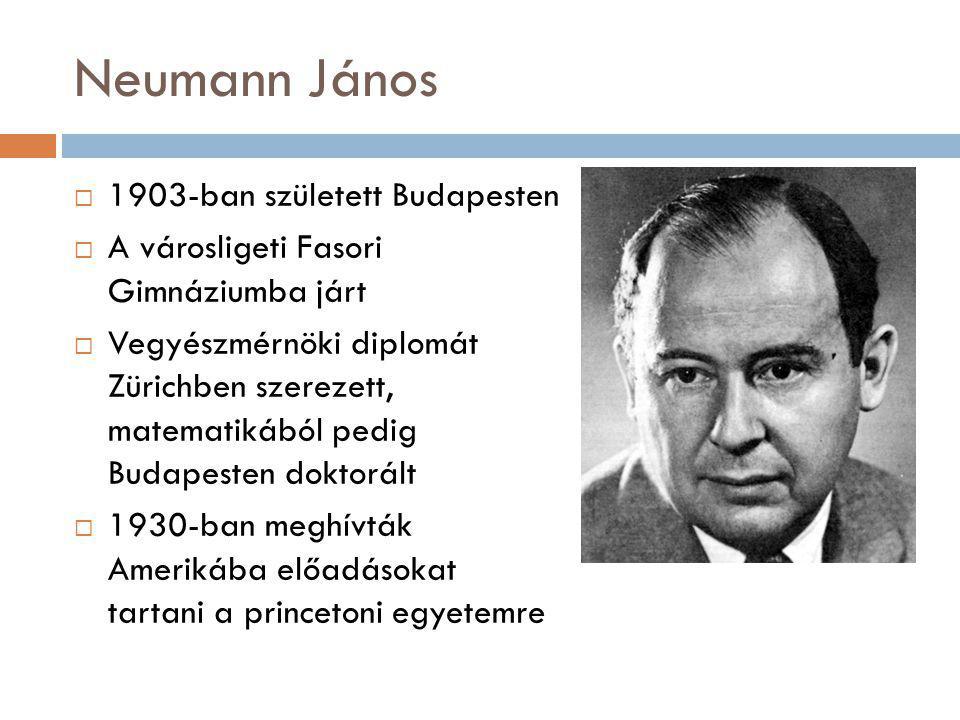 1903-ban született Budapesten  A városligeti Fasori Gimnáziumba járt  Vegyészmérnöki diplomát Zürichben szerezett, matematikából pedig Budapesten