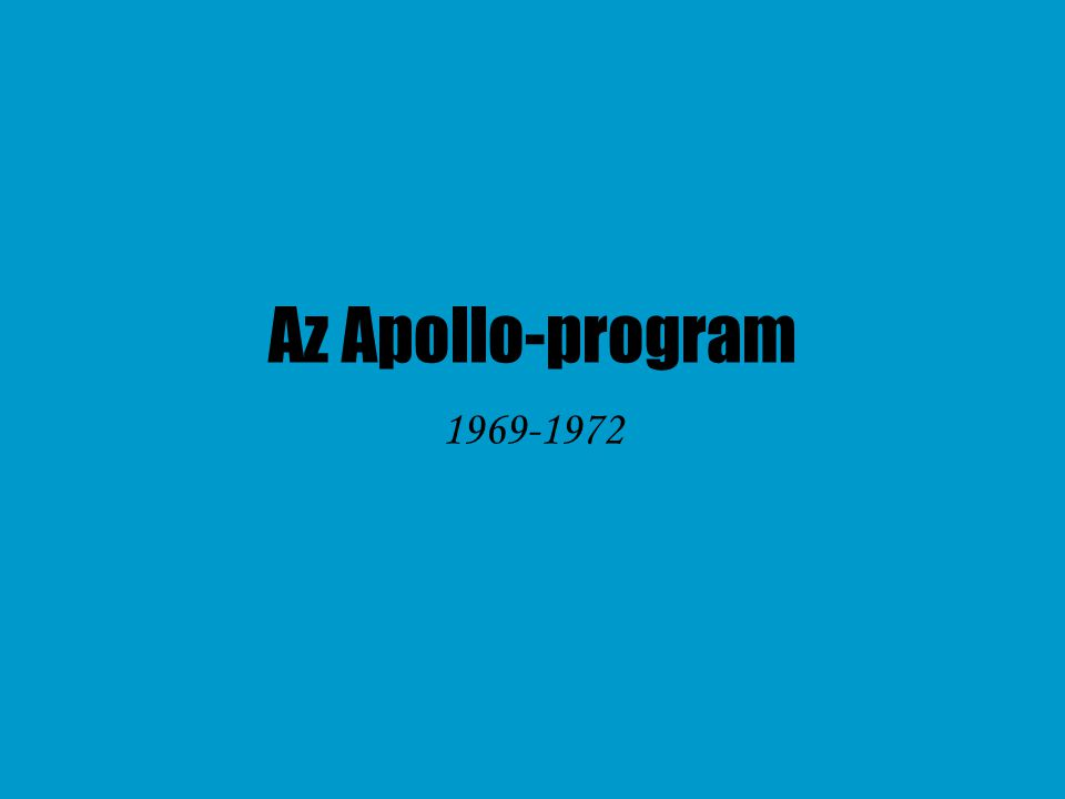 Az Apollo-program 1969-1972