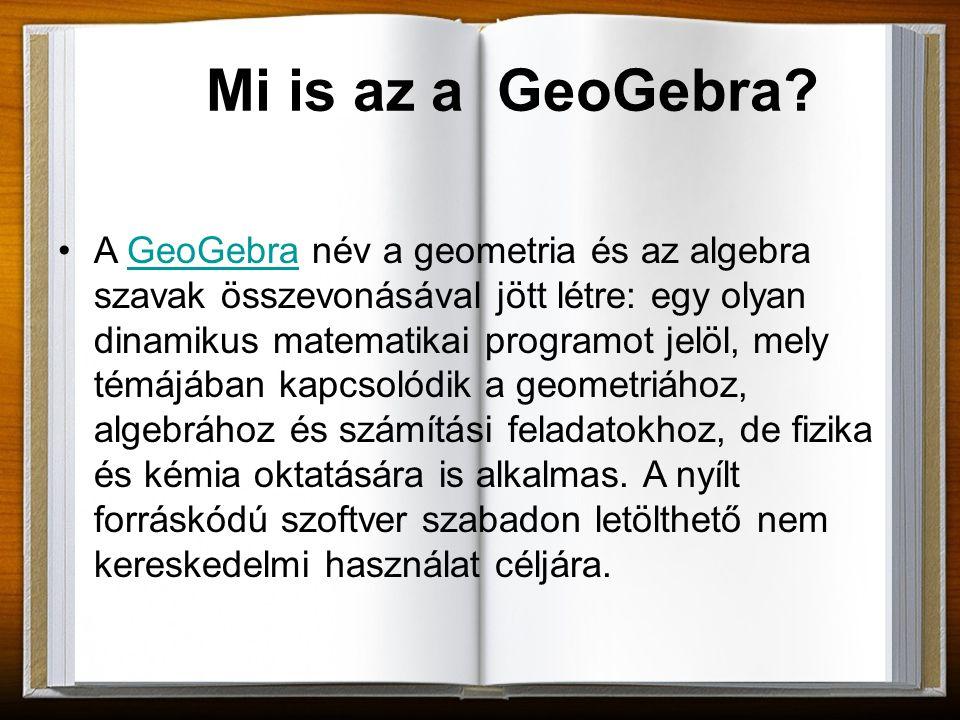 A GeoGebra kifejlesztése Markus Hohenwarter nevéhez fűződik.