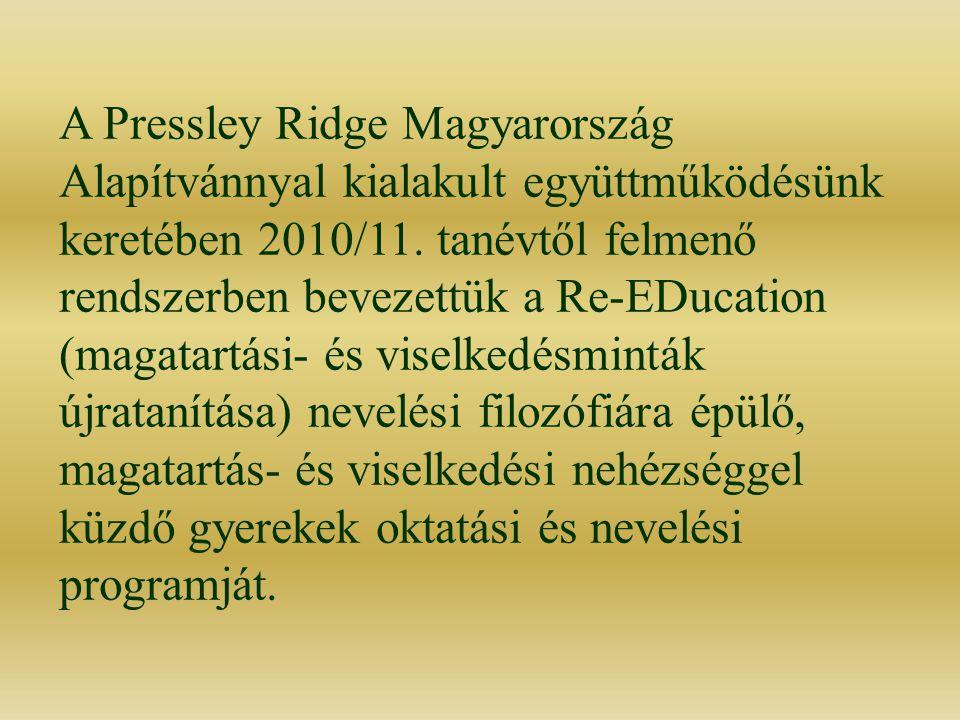 A Pressley Ridge Magyarország Alapítvánnyal kialakult együttműködésünk keretében 2010/11.