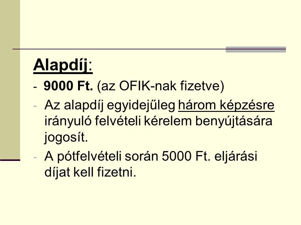 Alapdíj: - 9000 Ft.