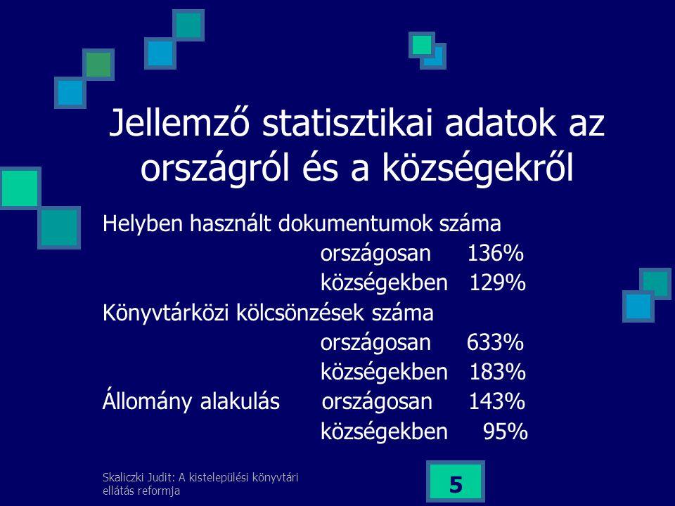 Skaliczki Judit: A kistelepülési könyvtári ellátás reformja 6 A megoldási lehetőségek keretei A kormányprogramhoz való kapcsolódás Prioritás a stratégiai célok között Megvalósítható koncepció, NKÖM döntés Kormányzati és önkormányzati együttműködés (NKÖM, BM, IHM, önkormányzatok) Szakmai konszenzus