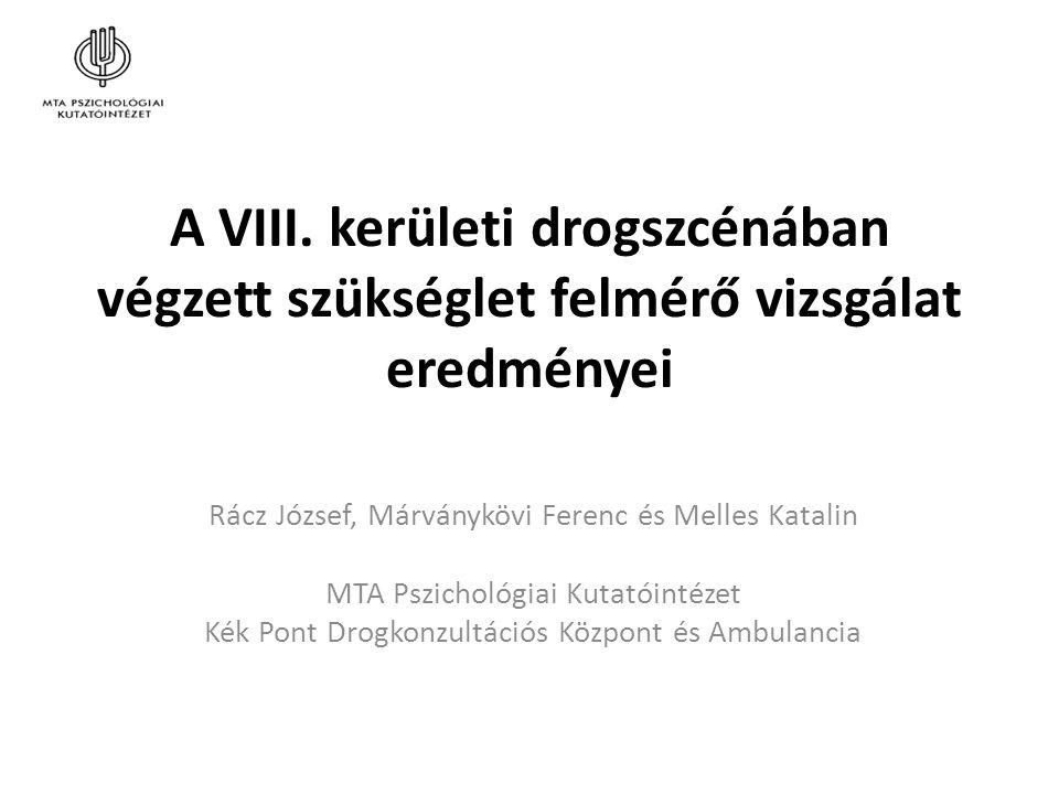 """A kontextus: Nyíltszíni droghasználat és """"belövőszobák (shooting gallery-k) A VIII."""