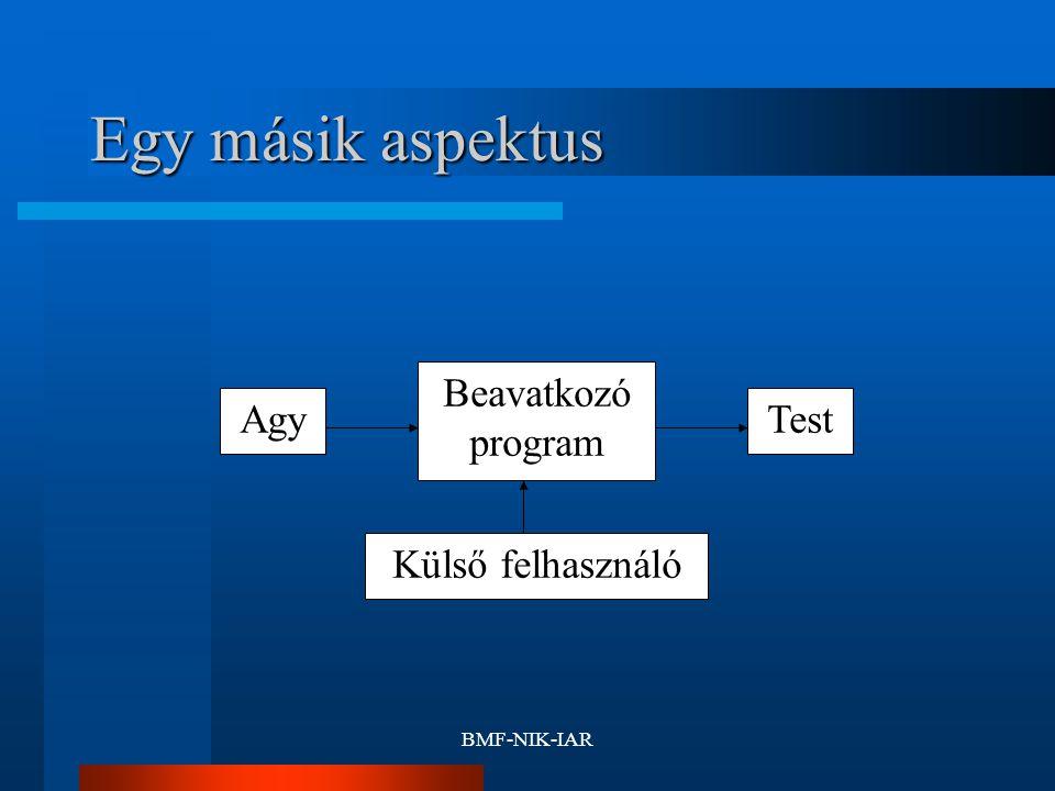 BMF-NIK-IAR Egy másik aspektus Test Beavatkozó program Agy Külső felhasználó