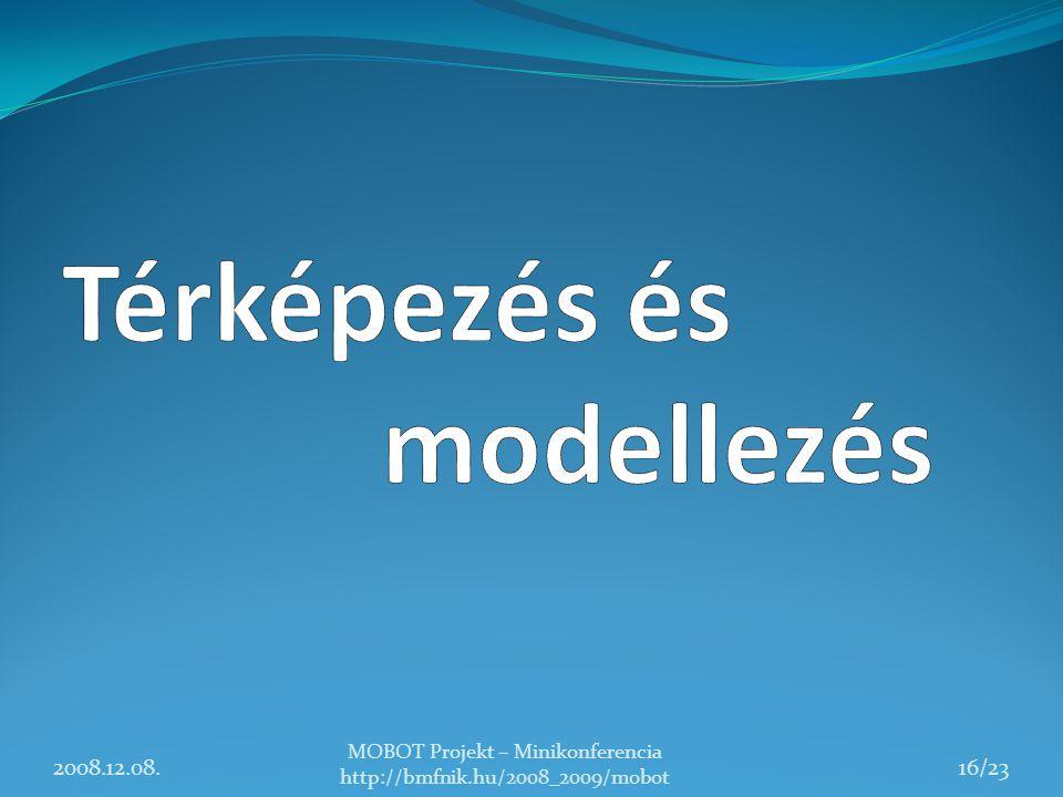 2008.12.08. MOBOT Projekt – Minikonferencia http://bmfnik.hu/2008_2009/mobot 16/23