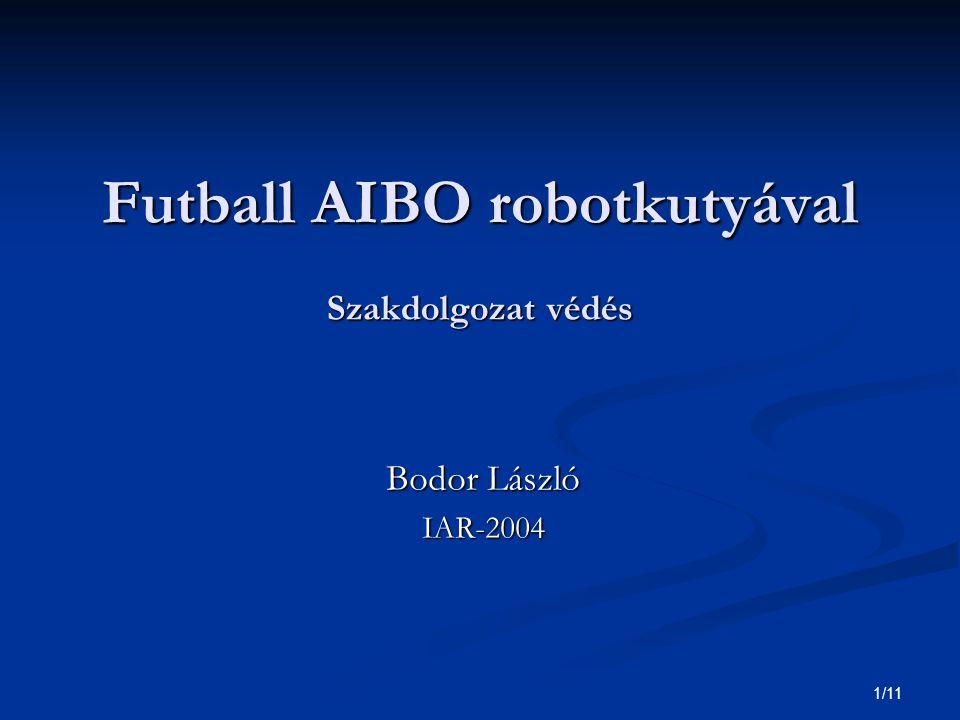 1/11 Futball AIBO robotkutyával Szakdolgozat védés Bodor László IAR-2004