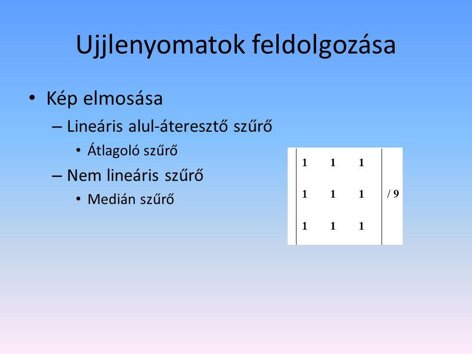 Kép elmosása – Lineáris alul-áteresztő szűrő Átlagoló szűrő – Nem lineáris szűrő Medián szűrő