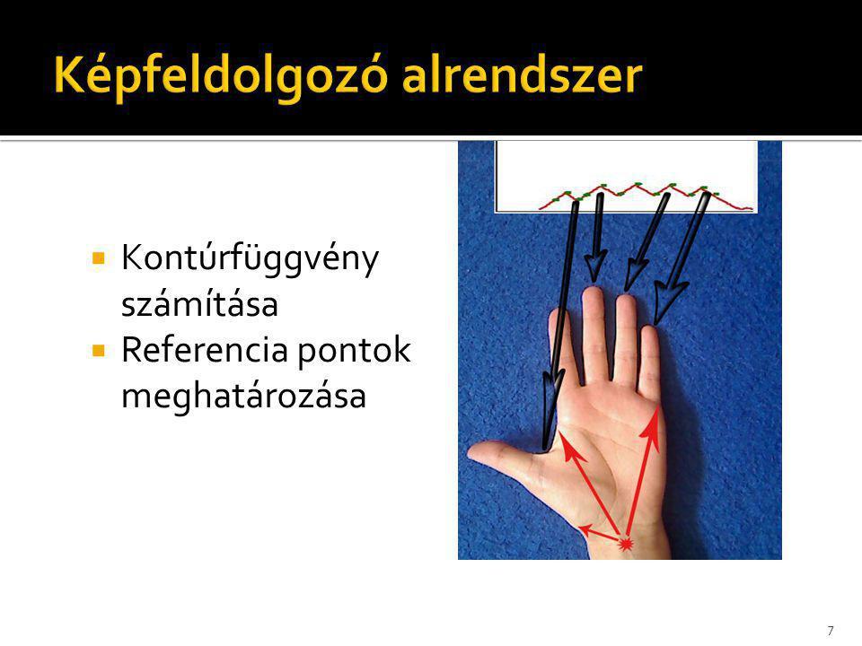  Kézgeometriai vektor meghatározása 8