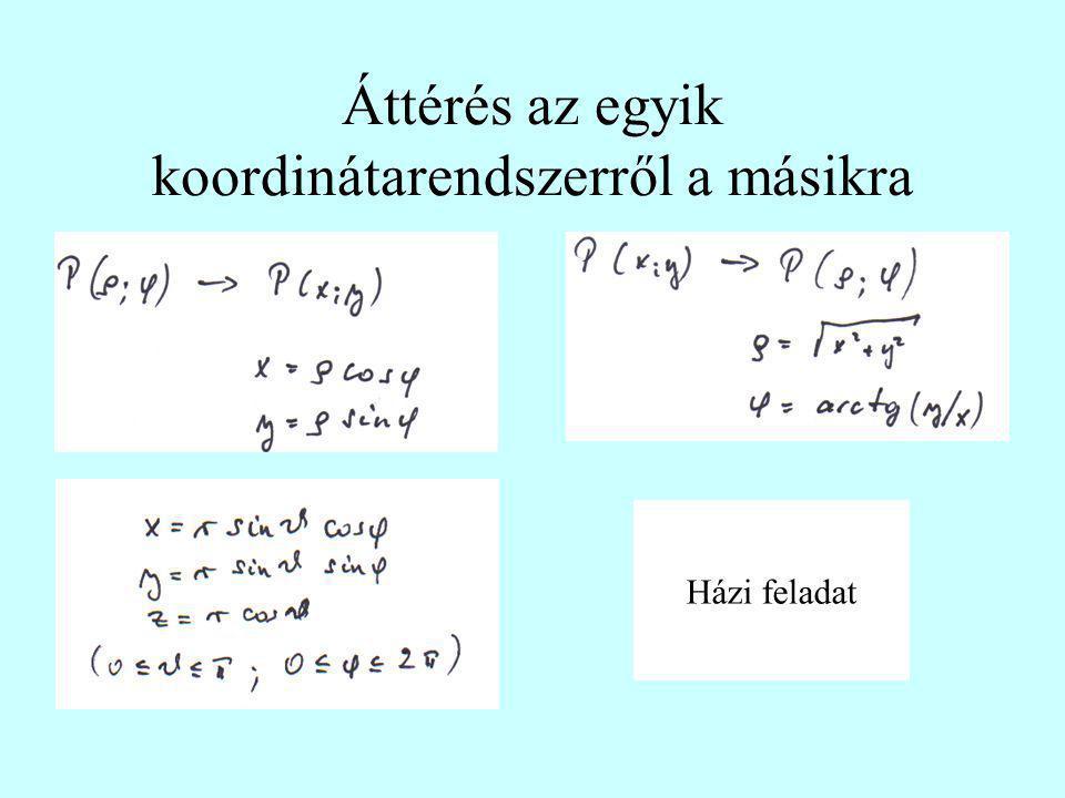 Fizikai mennyiségek Skalár – csak nagyság (hőmérséklet, tömeg, idő, …) Vektor – nagyság és irány (helyvektor: r=(x,y,z), erő: F=(F x,F y,F z ) Tenzor – 3 dimenzióban 6 független adat (deformációs tenzor, tehetetlenségi tenzor, polarizációs tenzor …)