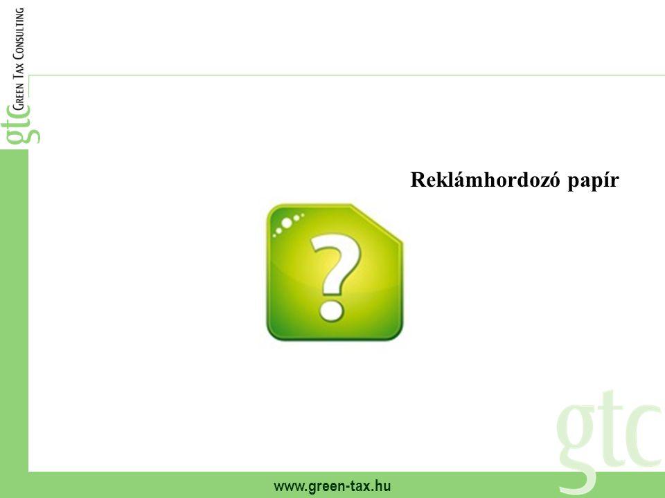 www.green-tax.hu Reklámhordozó papír