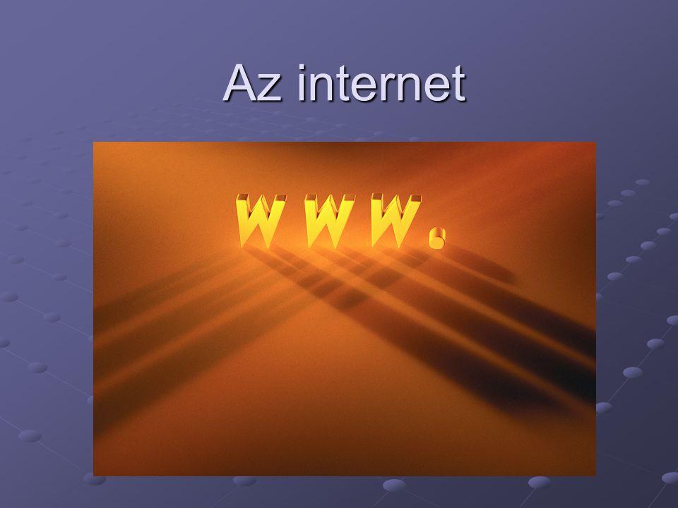 Számítógépes hálózatról akkor beszélünk, ha több különálló gépet összekötünk úgy, hogy azok képesek legyenek egymással kommunikálni Az eredetileg szigorúan katonai célú, nagy távolságú hálózatok csírájából jött létre a manapság már az egész világot behálózó, több millió gépet összekapcsoló hálózat, az internet.