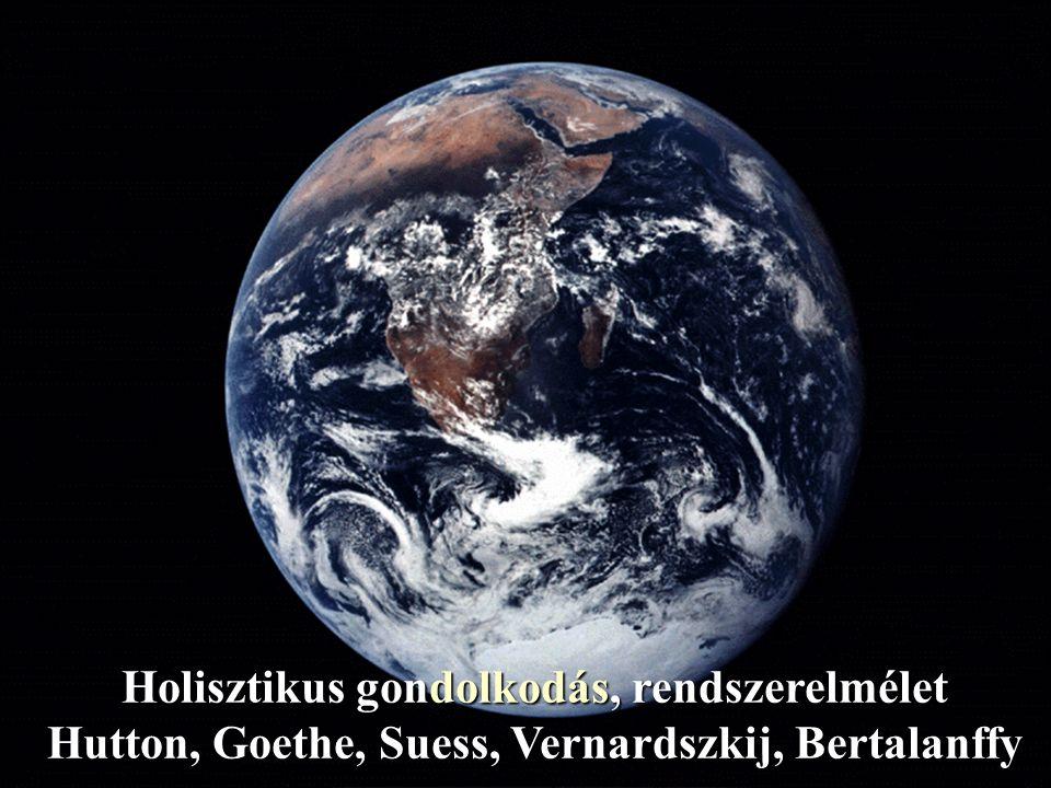 Holisztikus gondolkodás, rendszerelmélet Hutton, Goethe, Suess, Vernardszkij, Bertalanffy