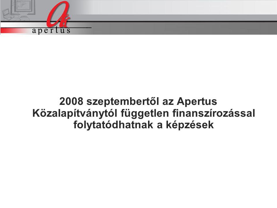 A projekt intézkedései 2008 szeptembertől az Apertus Közalapítványtól független finanszírozással folytatódhatnak a képzések A projekt intézkedései
