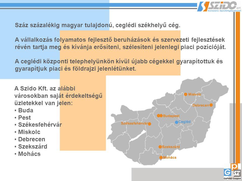 Száz százalékig magyar tulajdonú, ceglédi székhelyű cég. A vállalkozás folyamatos fejlesztő beruházások és szervezeti fejlesztések révén tartja meg és