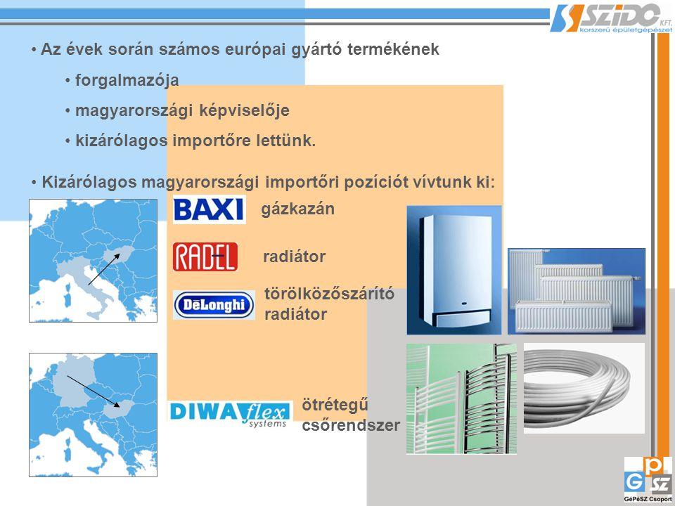 Az évek során számos európai gyártó termékének forgalmazója magyarországi képviselője kizárólagos importőre lettünk. Kizárólagos magyarországi importő