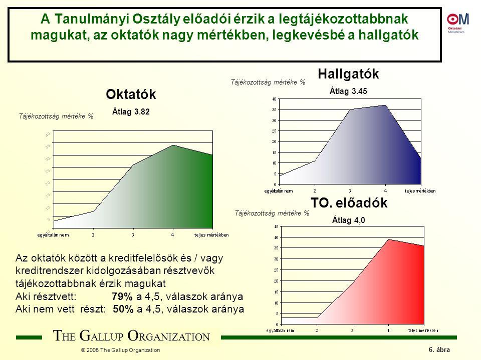 T HE G ALLUP O RGANIZATION © 2005 The Gallup Organization 17.
