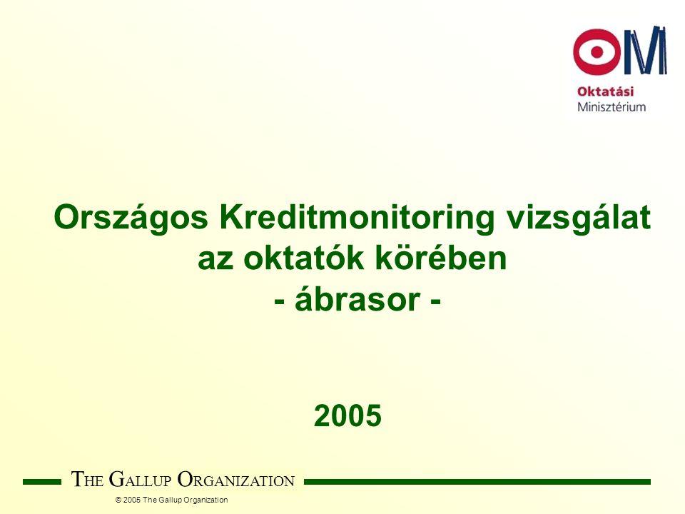 © 2005 The Gallup Organization T HE G ALLUP O RGANIZATION Országos Kreditmonitoring vizsgálat az oktatók körében - ábrasor - 2005