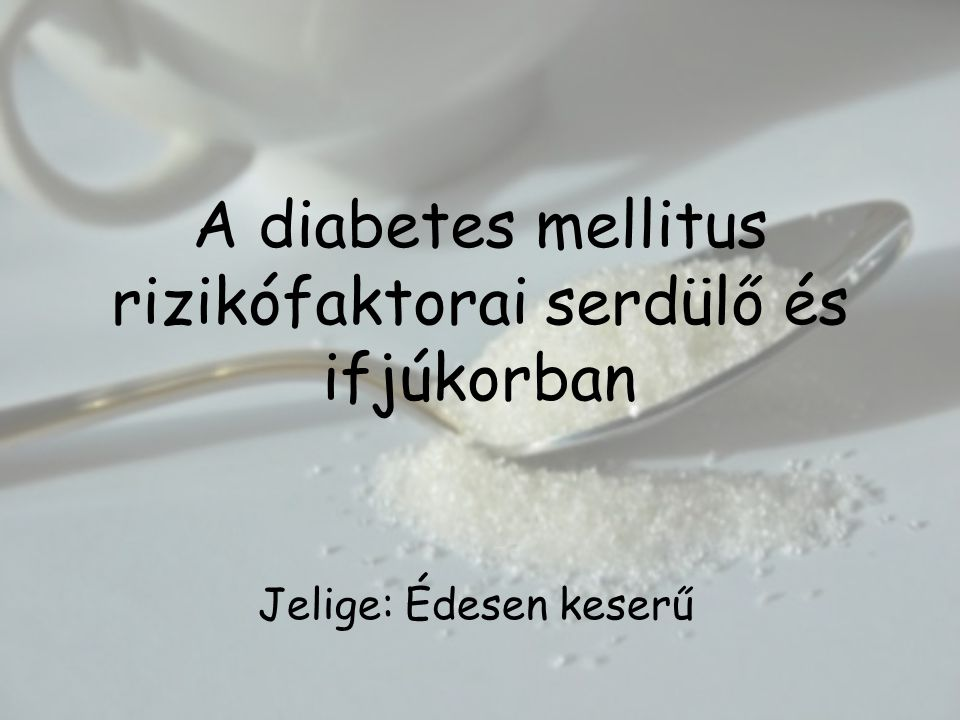 A 2-es típusú cukorbetegség (Non Inzulindependens Diabetes Mellitus, NIDDM) Heterogén csoport: A betegek 80%-a kisebb-nagyobb mértékben elhízott, amely a hasra lokalizálódott.