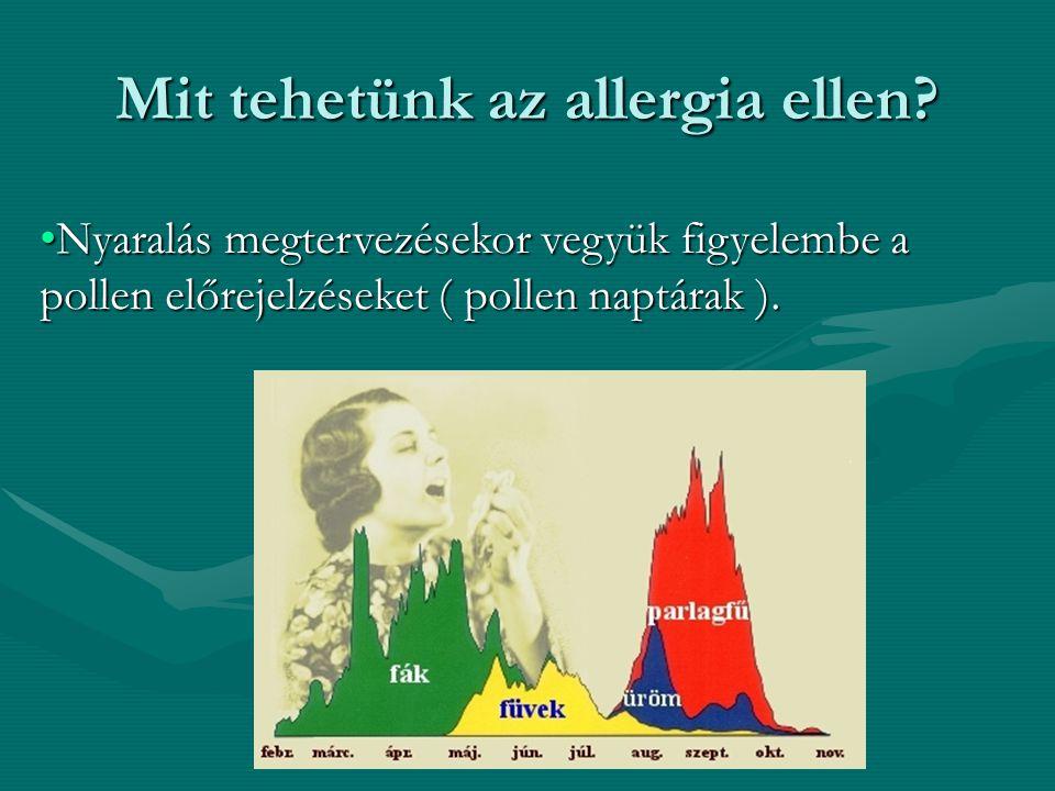 Mit tehetünk az allergia ellen.