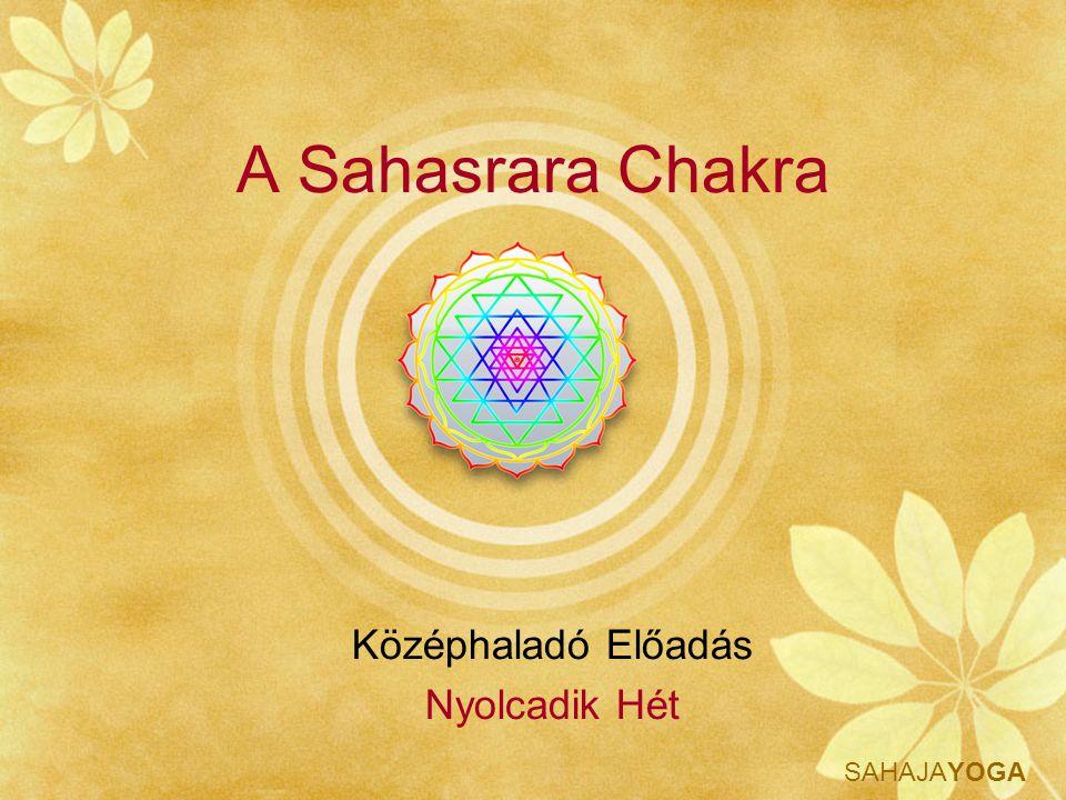 SAHAJAYOGA Sahasrara Chakra Amiről szó lesz: Tudás Tapasztalás Tulajdonságok Tisztítás