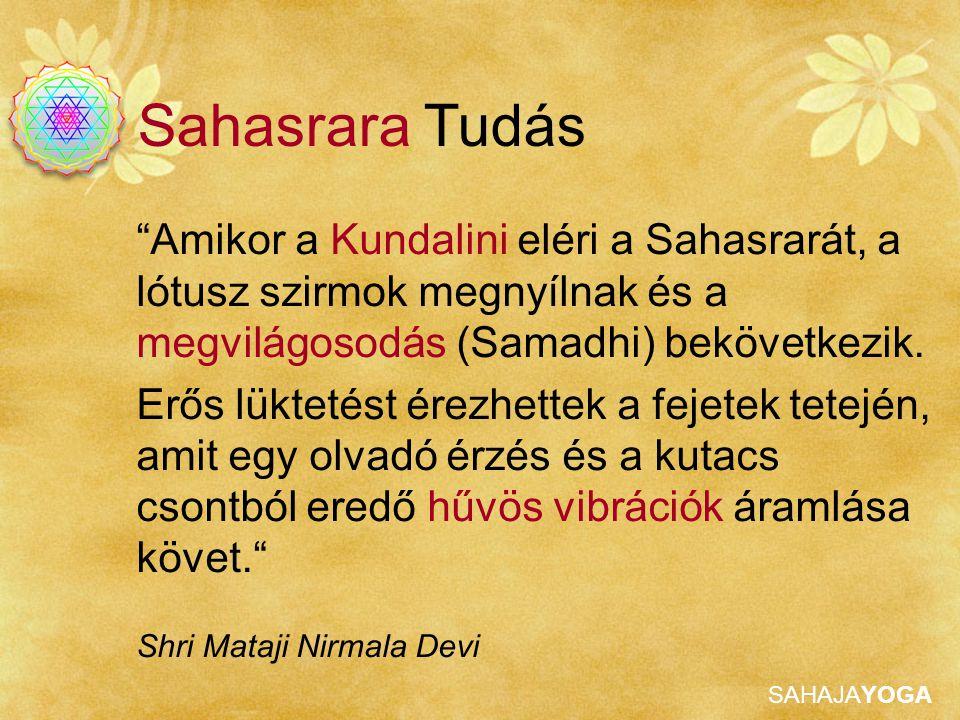 SAHAJAYOGA A Sahasrara Chakra Sahasrara Tisztítása Erősítsd meg a kapcsolatot Istennel azáltal hogy stabilizálod a Kundalinit a Sahasrara chakrában.