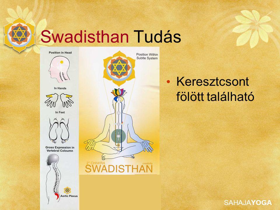 SAHAJAYOGA Swadisthan Tudás Keresztcsont fölött található
