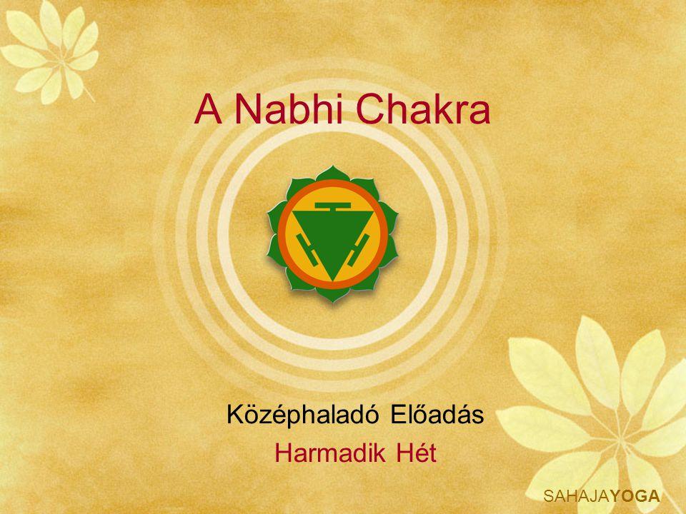 SAHAJAYOGA A Nabhi Chakra Középhaladó Előadás Harmadik Hét