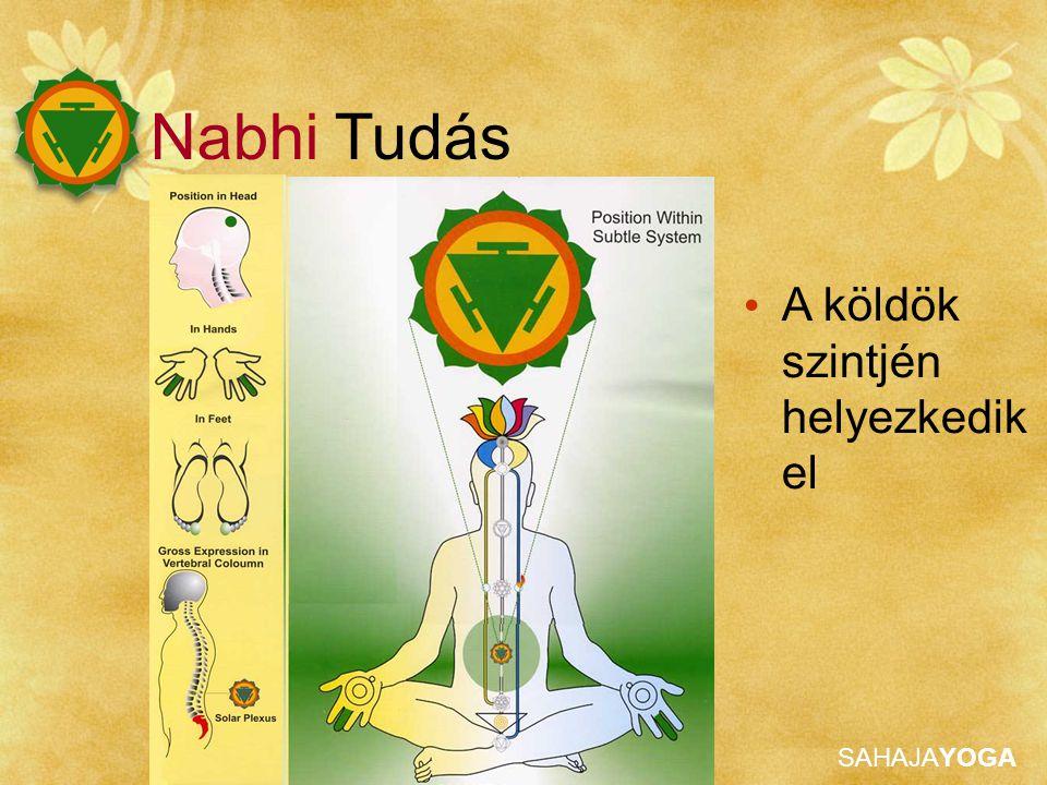 SAHAJAYOGA A köldök szintjén helyezkedik el Nabhi Tudás
