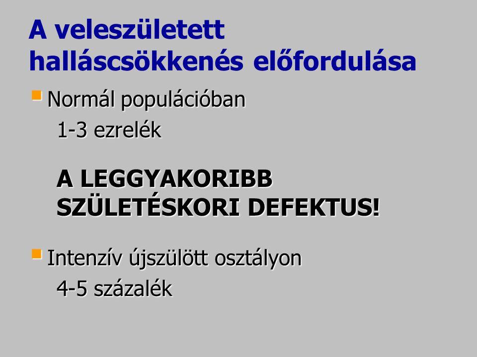 Otoakusztikus emisszió II.